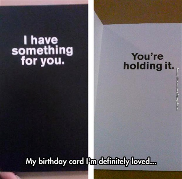 When the card is the gift