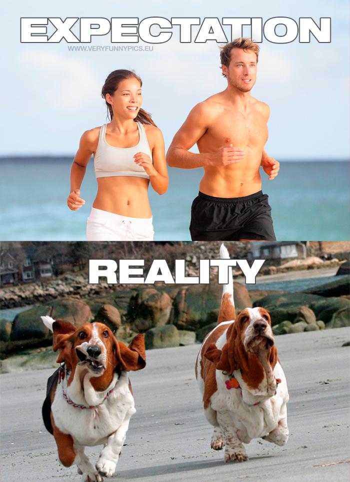 Running: Expectation VS Reality