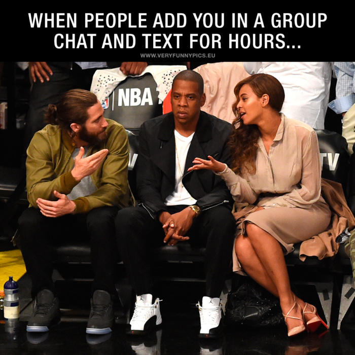 Group chats can be handy, but they can be a real pain too …