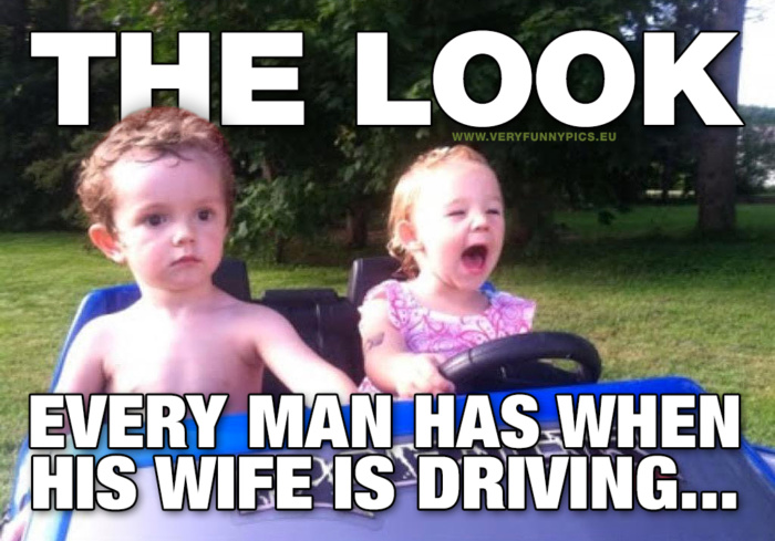 Why are men always jerks in the passenger seat?