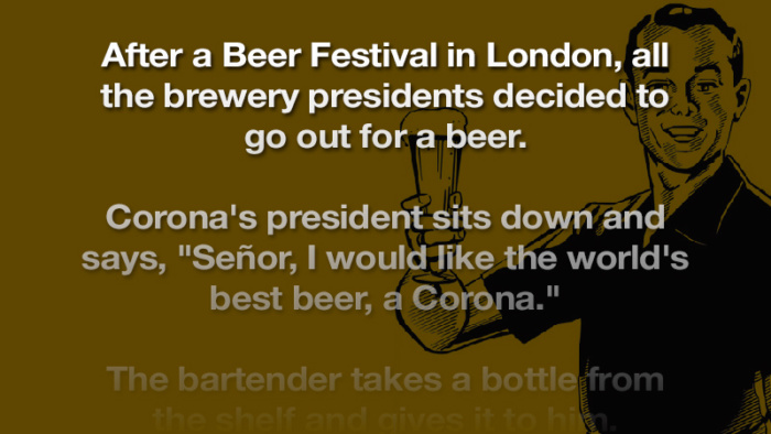 The Guinness President definitely won this round…