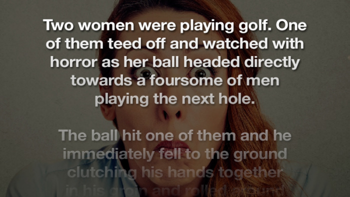 The woman's helping hand on the balls didn't seem to help at all…