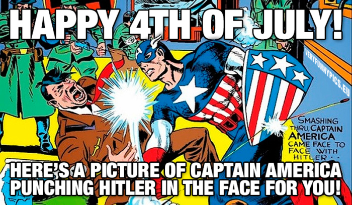 Happy 4th of July America and thanks for what you've done for us in Europe!