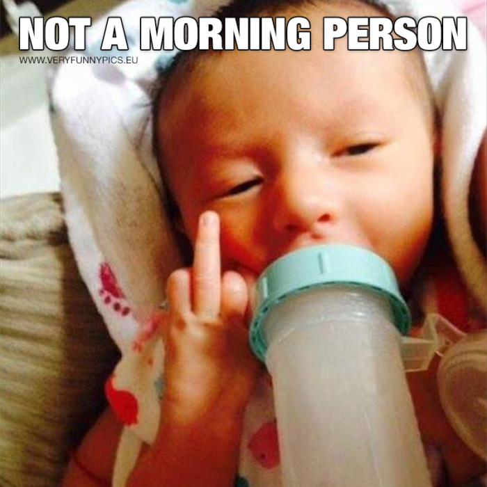 You can be a nice person even if you're a bit grumpy in the morning
