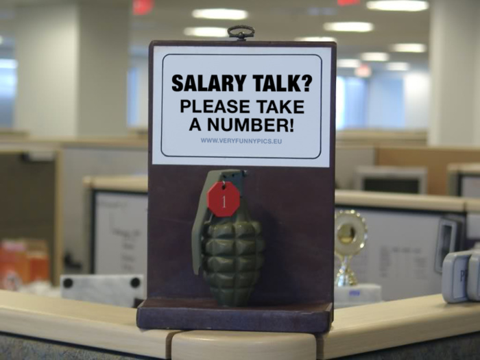 A bad day for a salary talk