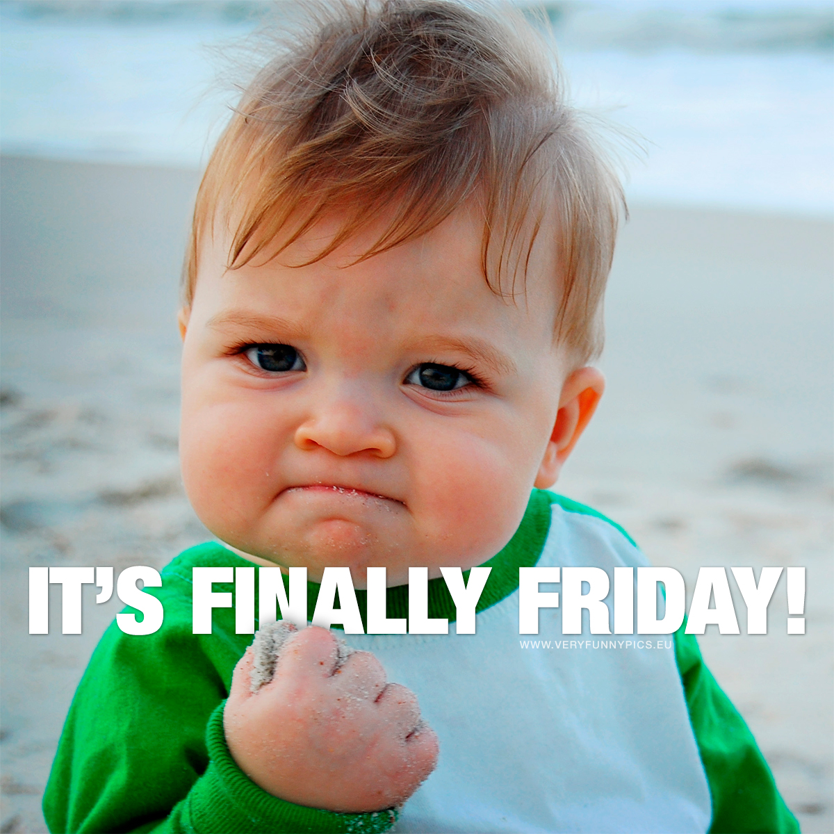 Cute kid makes a fist - It's finally friday!