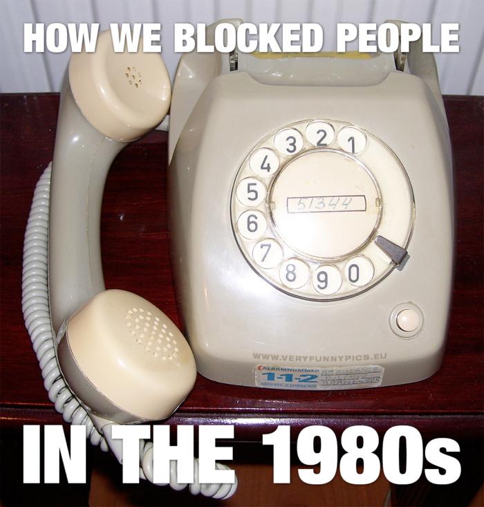 We've always been able to block people