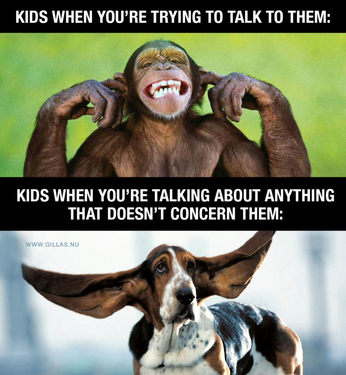 Talking to a child can be tricky