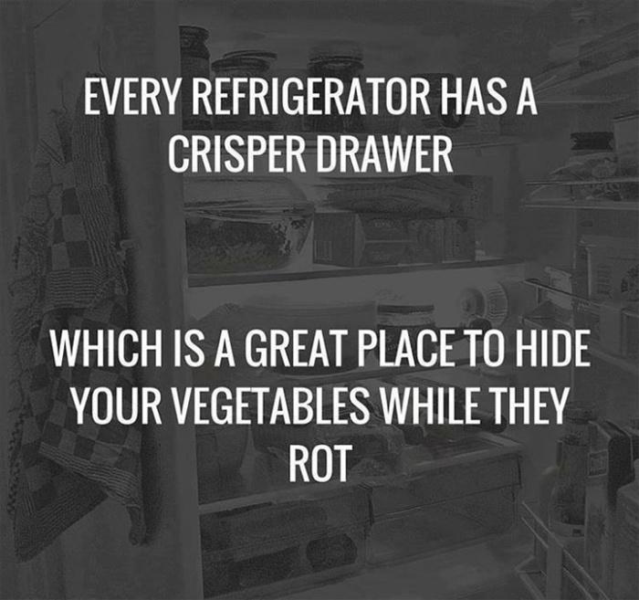 How i use the crisper drawer