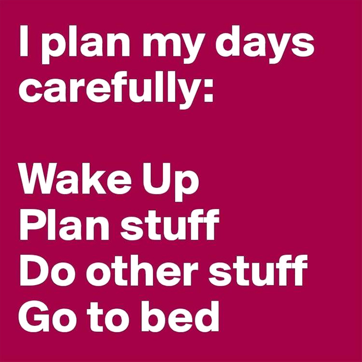 Quote about how to plan a day