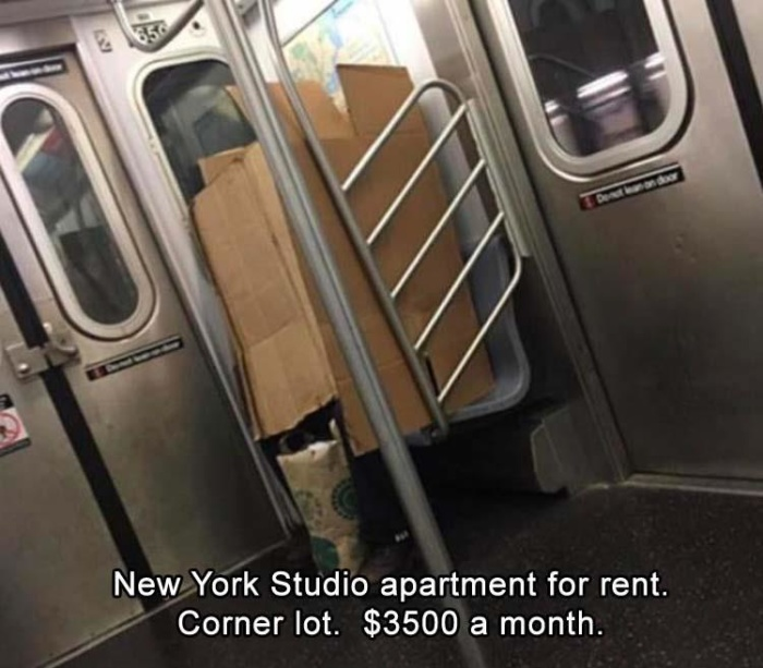 Yet, it's an affordable apartment in New York…