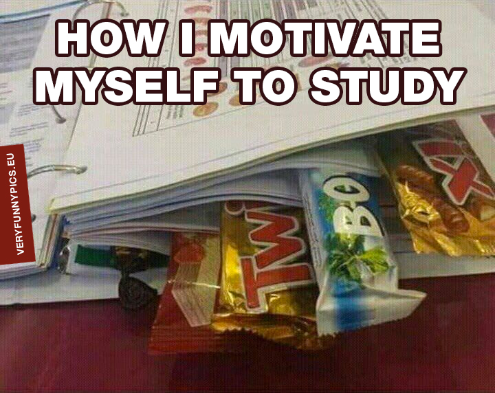 Candy between pages - How i motivate myself to study