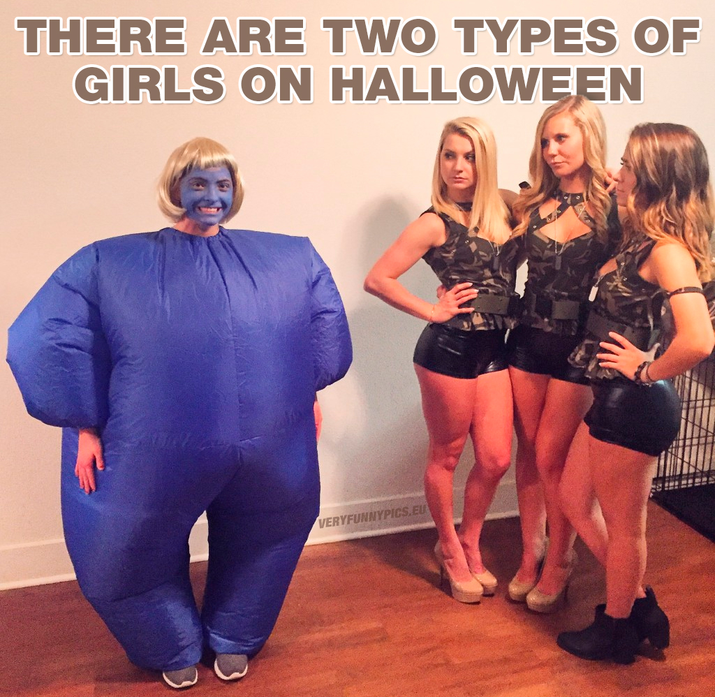 Girls in halloween costumes - There are two types of girls on halloween
