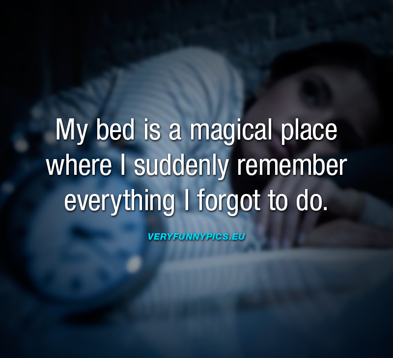 Funny quote about the bed