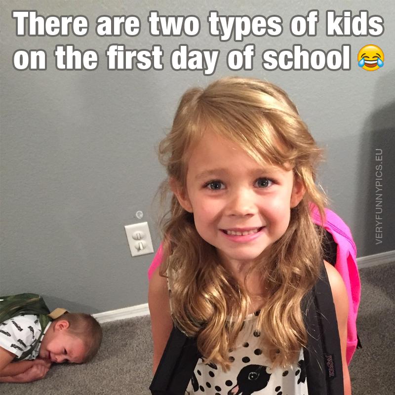 One happy kid and one sad kid