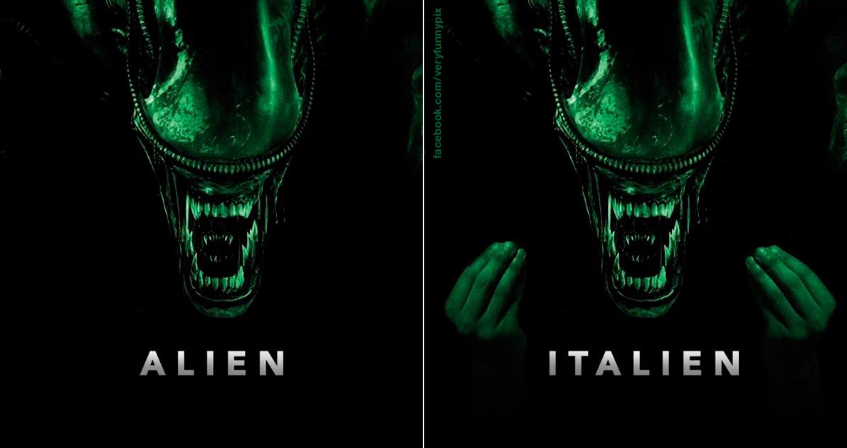 Alien movie poster - Alien VS Italien