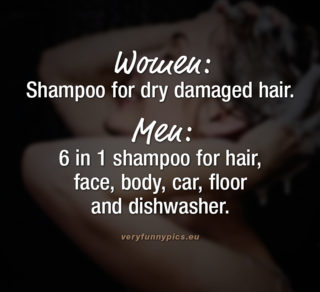 Shampoo usage: Women VS Men