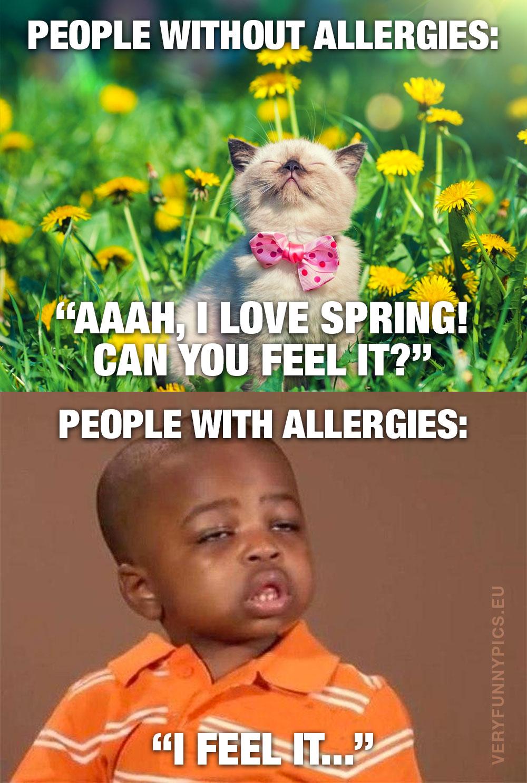 Kat enjoying spring and allergic boy