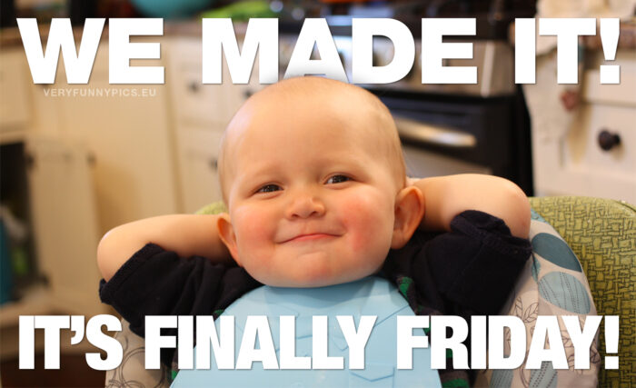 That wonderful friday feeling