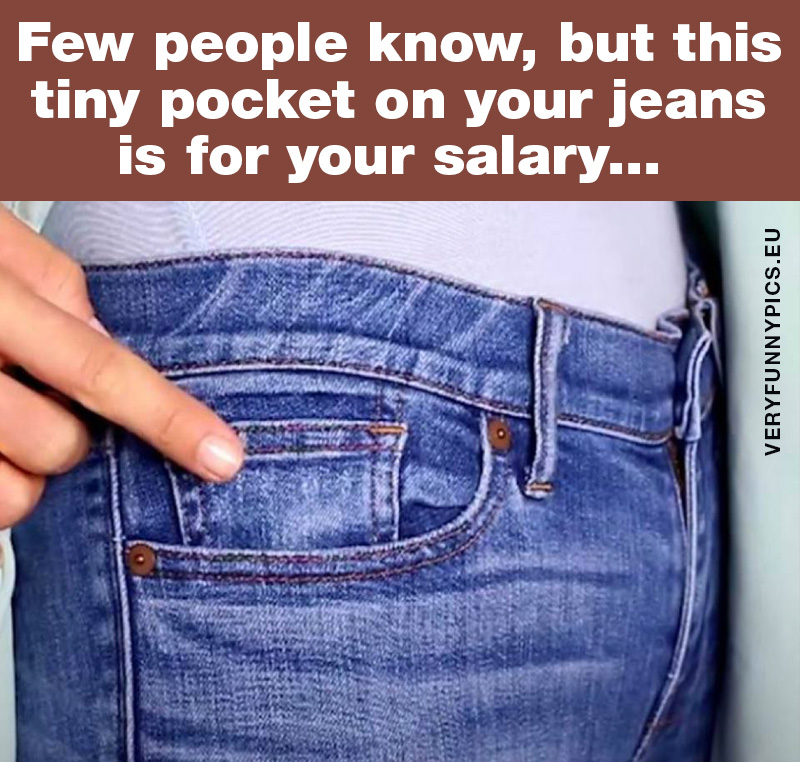 Fact about the tiny pocket on your jeans
