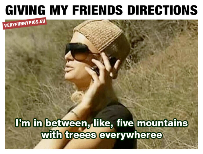 Providing directions isn't for everyone