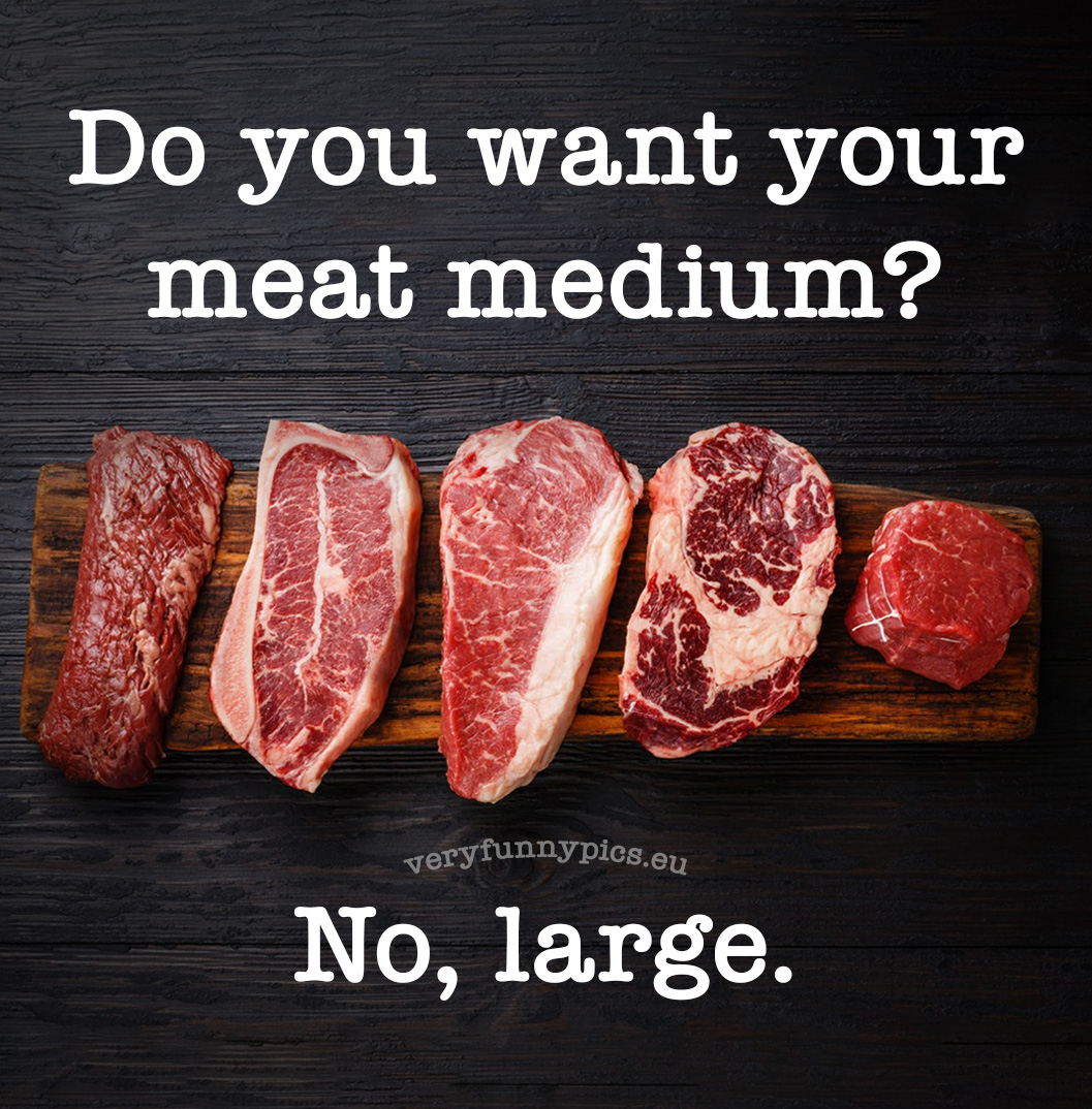 Funny dad joke about meat