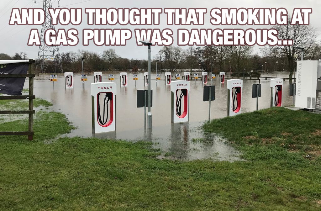 Charging station under water